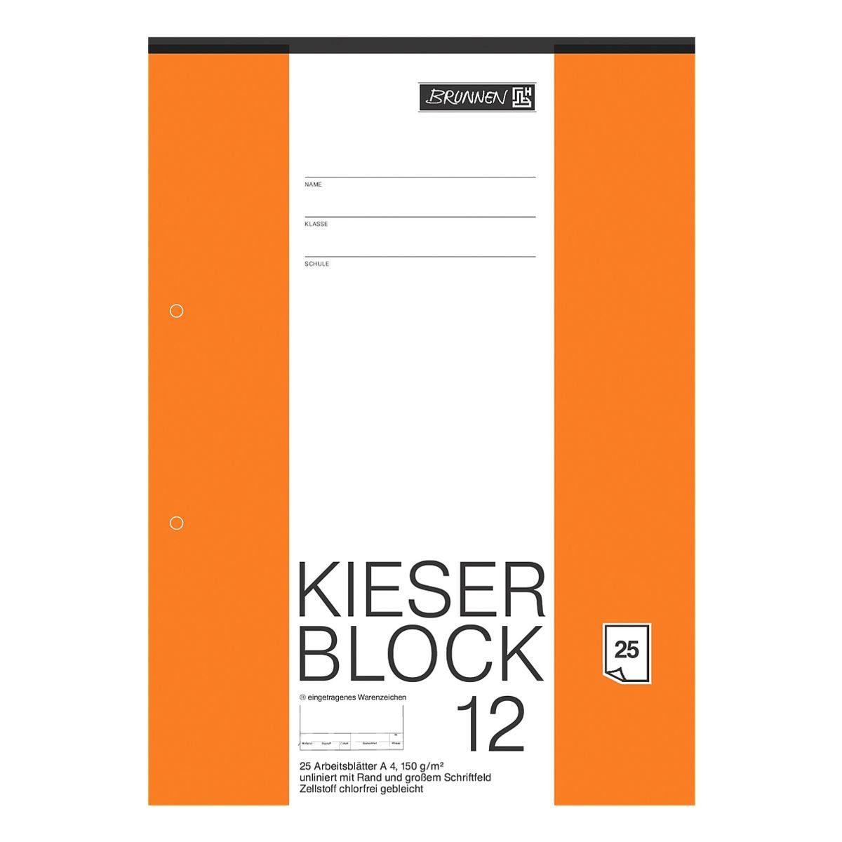 BRUNNEN Zeichenblock »KIESER 080012«