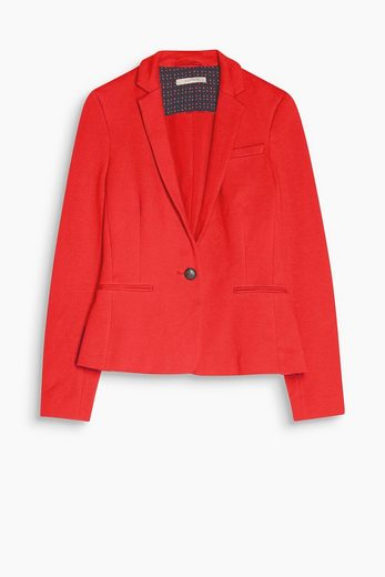 Esprit Jersey Blazer Made Of Cotton / Stretch