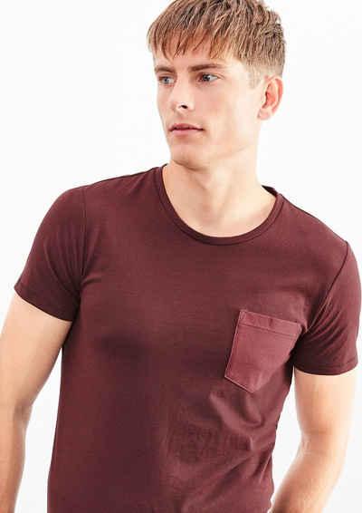 Q/S designed by Melange-Shirt mit Brusttasche
