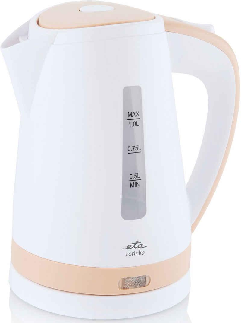 eta Wasserkocher LORINKA Beige ETA659990010, 1 l, 2200 W