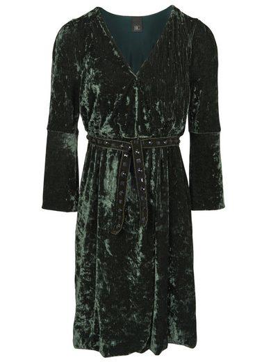 heine CASUAL Kleid aus Samt mit Gürtel aus Samt mit Gürtel aus Samt mit Gürtel