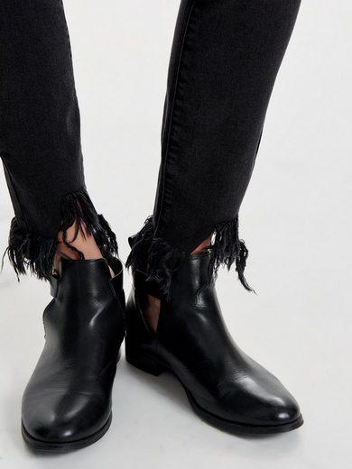 Only Carmen reg ankle frill Skinny Fit Jeans