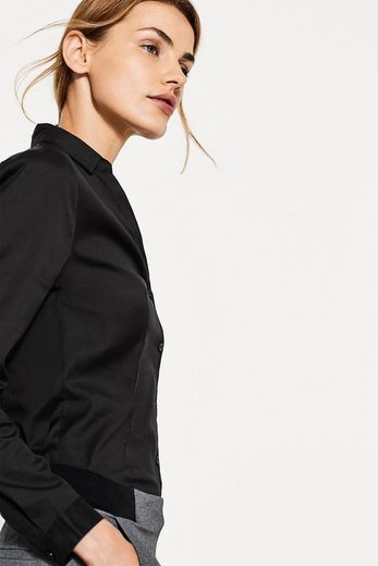 ESPRIT COLLECTION Taillierte Business-Bluse, Baumwoll-Stretch