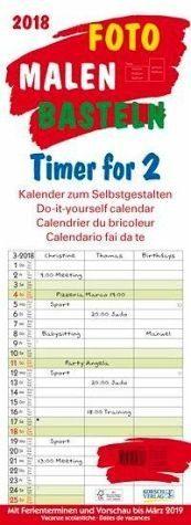 Kalender »Foto-Malen-Basteln Timer for 2 2018«