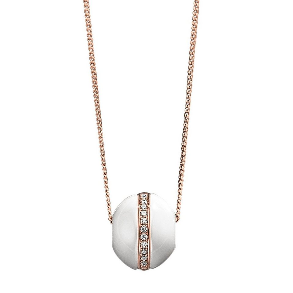aad9c4faab7d Jacques Lemans Anhänger mit Kette »925 - Sterling Silber Keramik weiß«