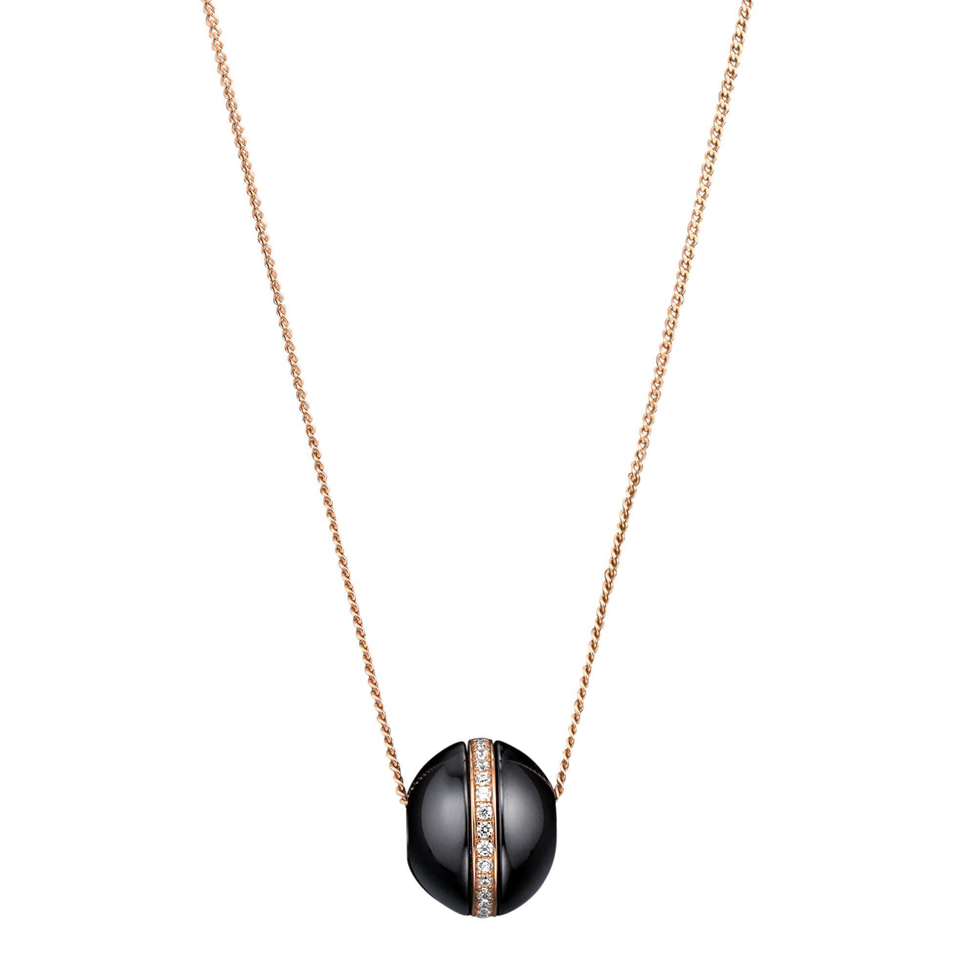 Jacques Lemans Anhänger mit Kette »925/- Sterling Silber Keramik schwarz«