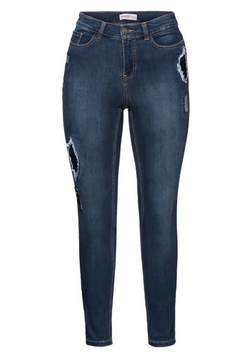 sheego Denim Stretch-Jeans, Destroyed Effekte