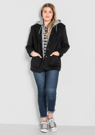 Sheego Casual Hooded Jacket Blazer, With Heraustrennbarem Sweat And Use