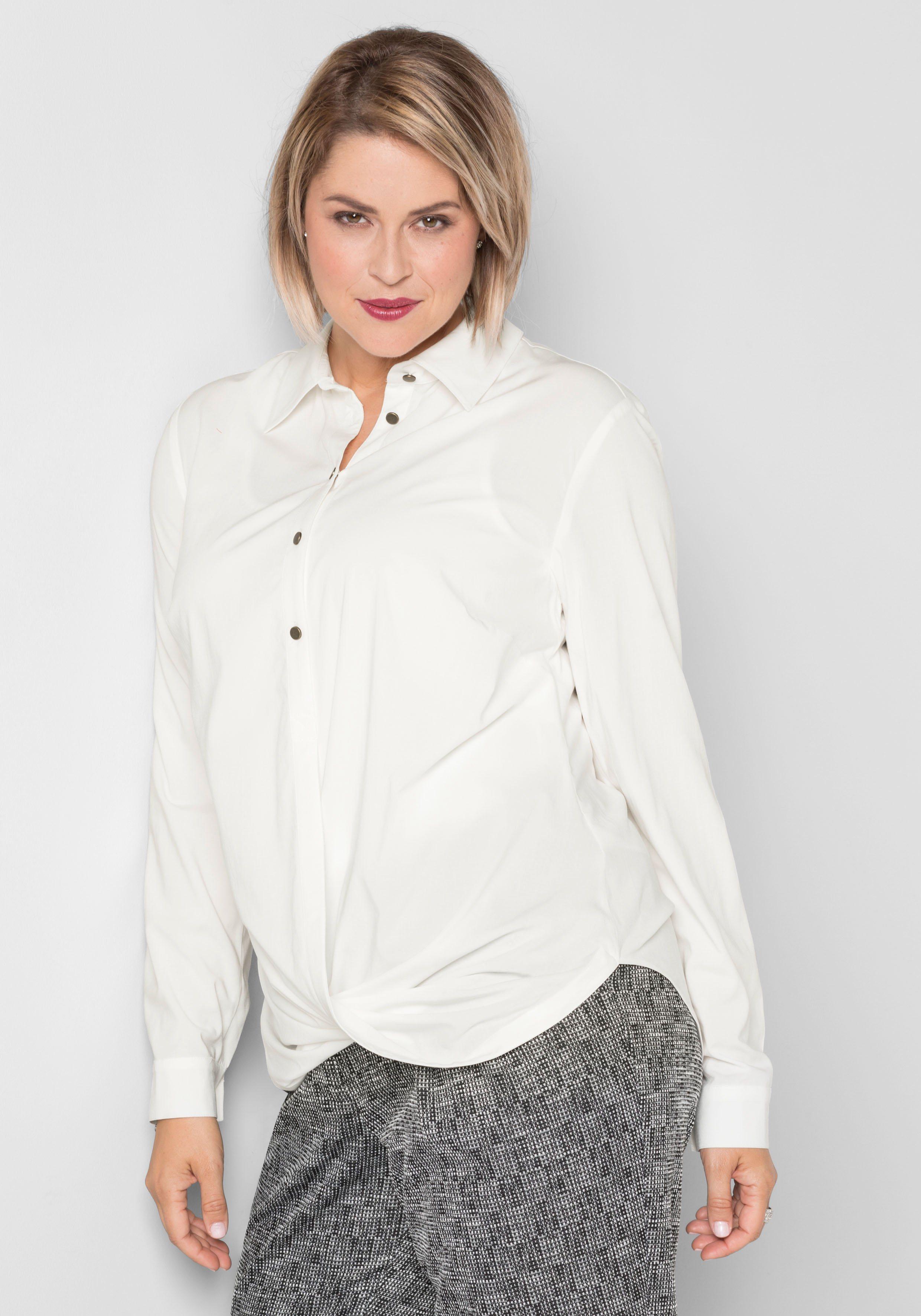 sheego Style Tunika Saum in Wickeloptik | Bekleidung > Tuniken > Sonstige Tuniken | sheego Style