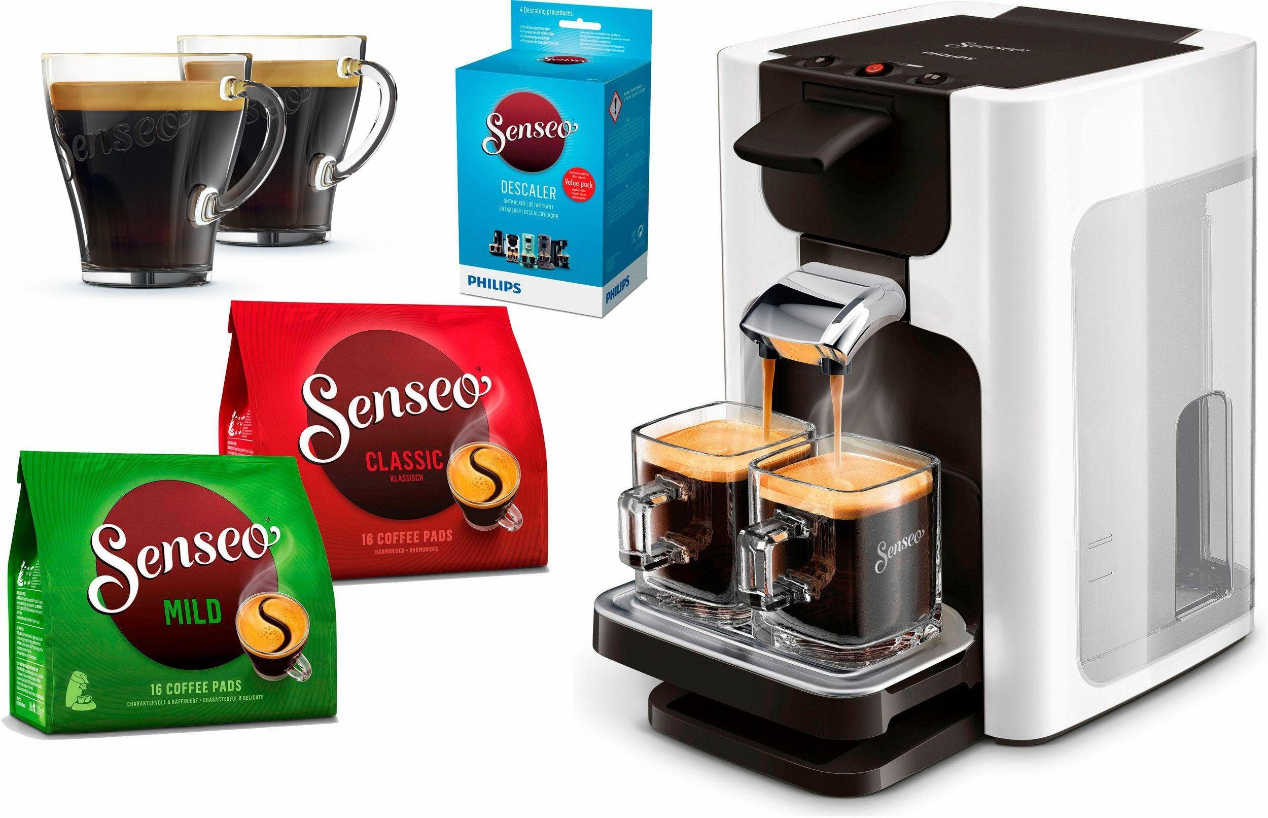 Senseo Kaffeepadmaschine SENSEO® Quadrante HD7865/00, inkl. Gratis-Zugaben im Wert von 26- UVP