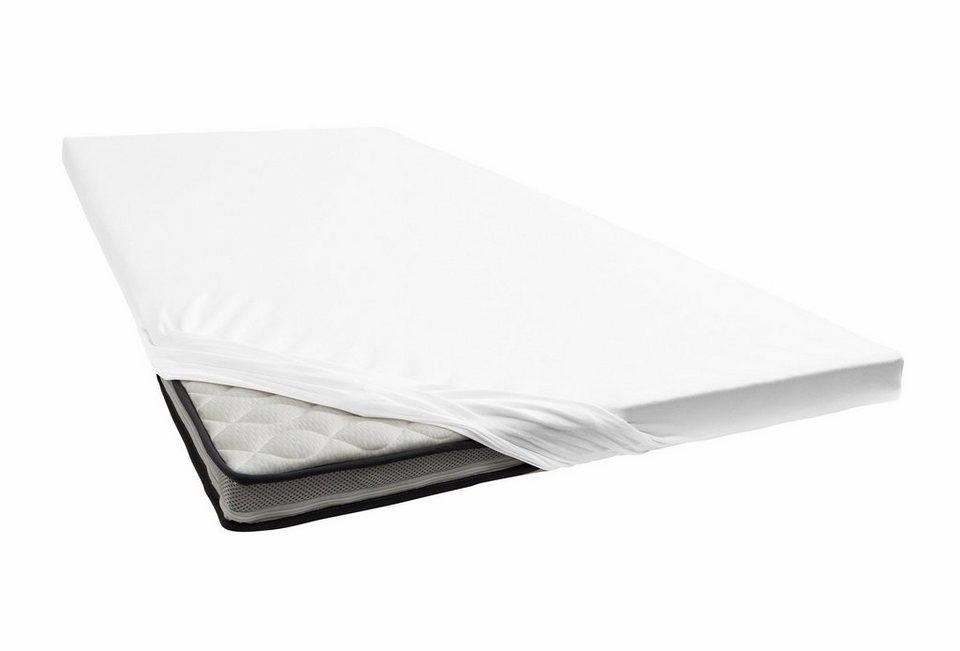 spannbettlaken jersey elasthan janine f r topper online kaufen otto. Black Bedroom Furniture Sets. Home Design Ideas
