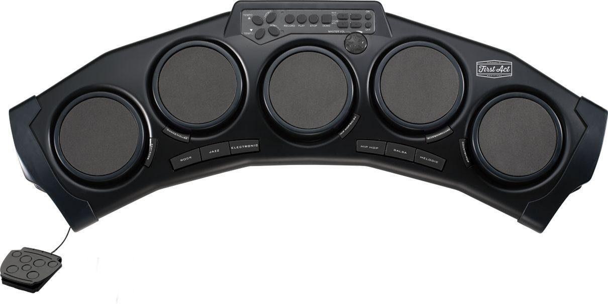 Digitales E-Schlagzeug mit Drumsticks und Kopfhörern, »First Act«