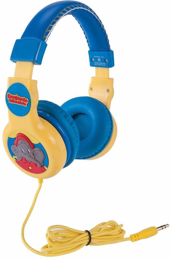 Verstellbare Kinderkopfhörer mit Lautstärkebegrenzung, »Benjamin Blümchen, blau«