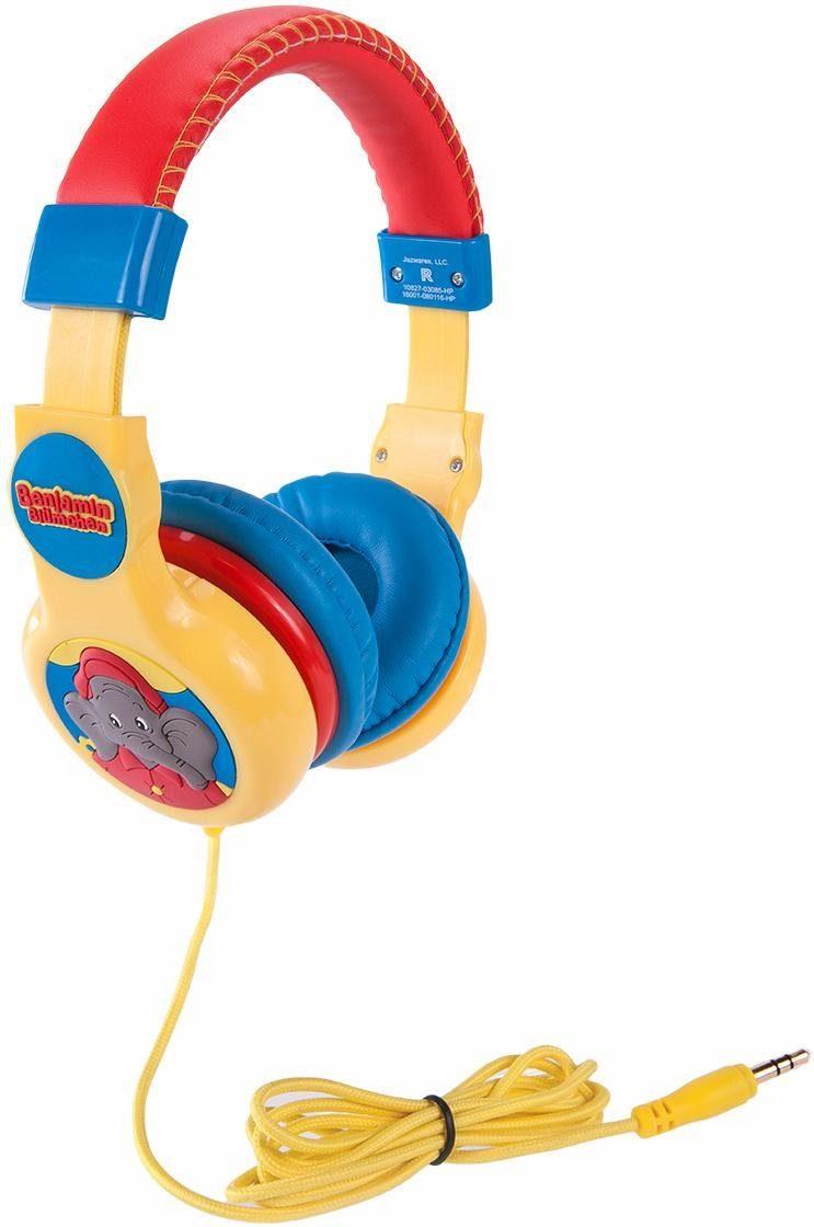 Verstellbare Kinderkopfhörer mit Lautstärkebegrenzung, »Benjamin Blümchen, rot«