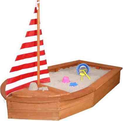 Sun Sandkasten aus Holz, »Bootsform, braun«