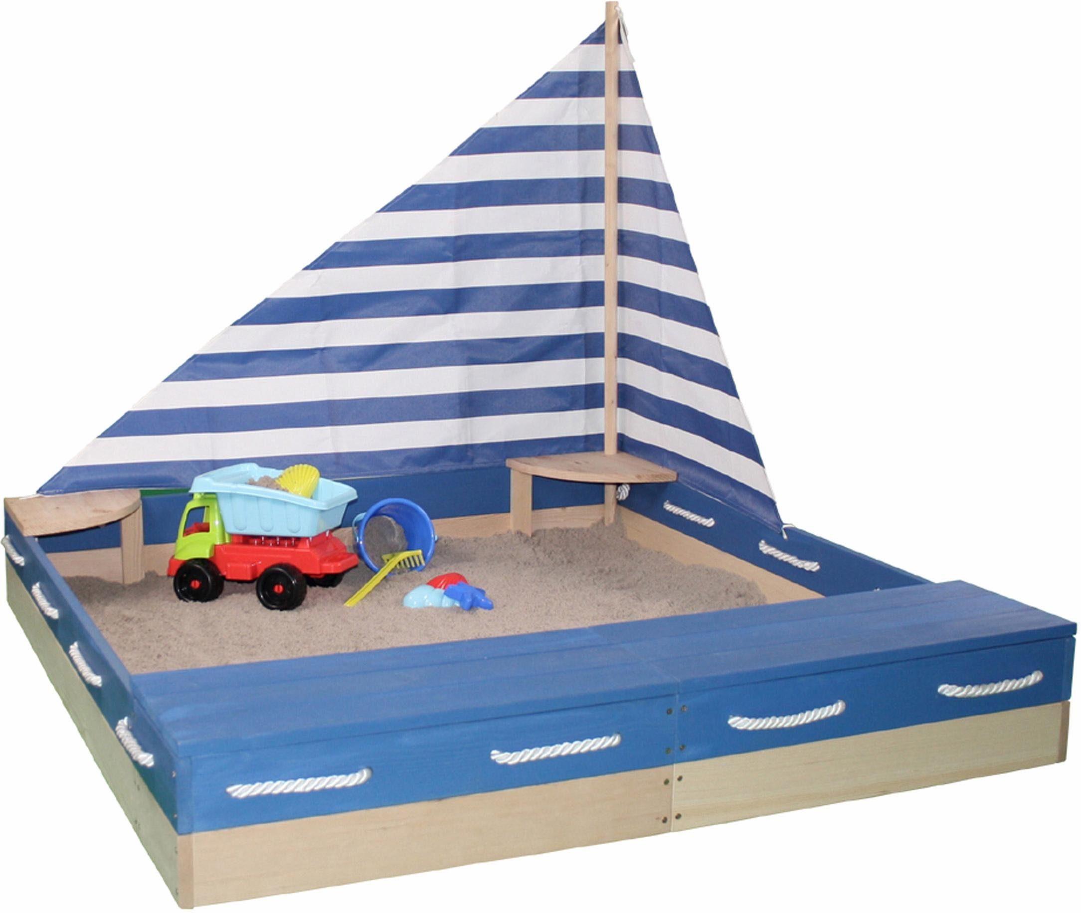 Sandkasten Störtebecker mit Segel Sandkiste Sandkasten & Spielzeug Spielzeug für draußen