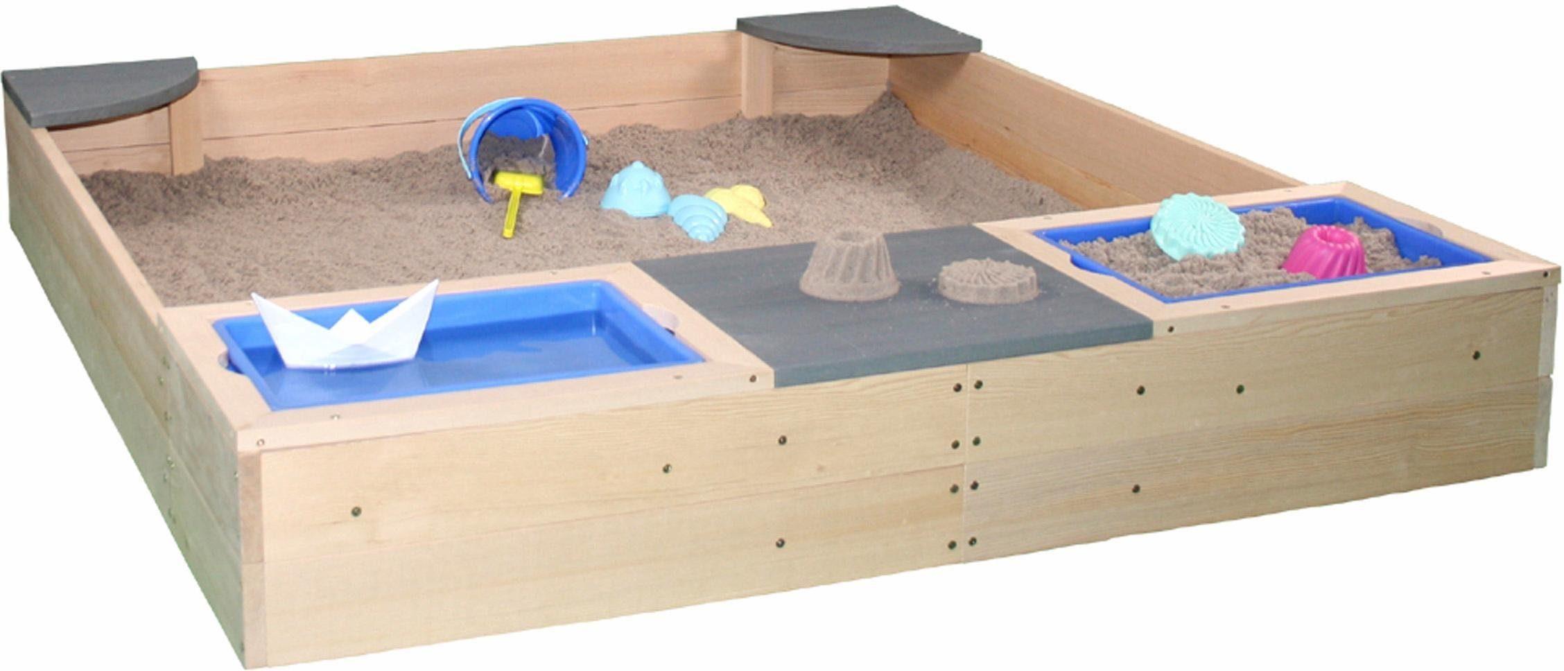 Sun Sandkasten aus Holz, »Strand & Meer«