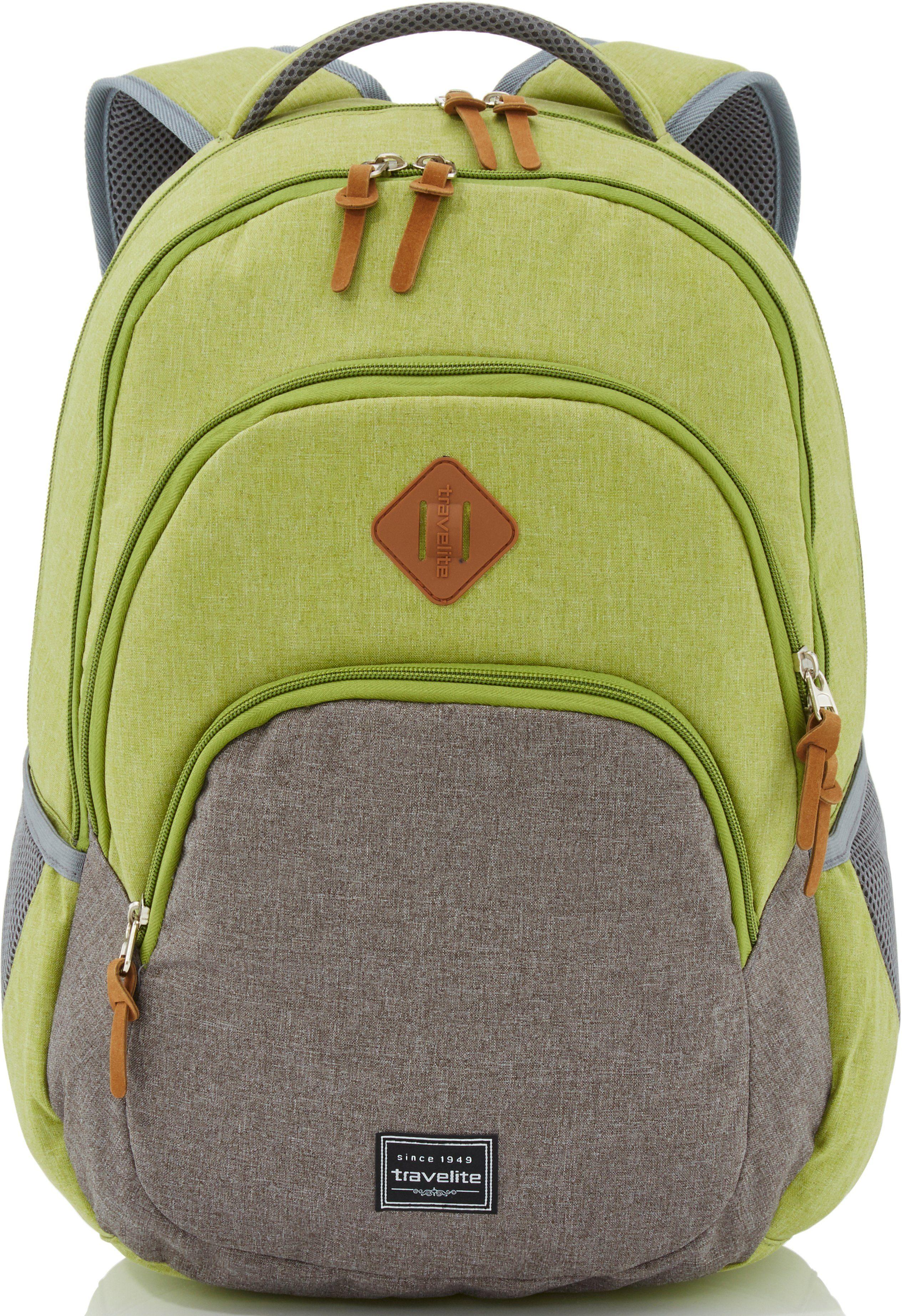 travelite Rucksack, »Basics, grün/grau«