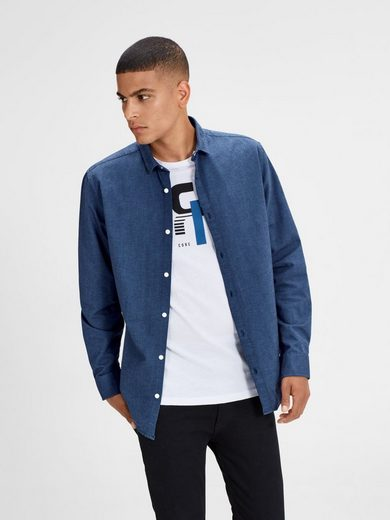 Jack & Jones Oxford- Langarmhemd