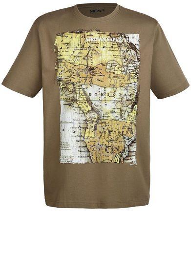 Men Plus by Happy Size T-Shirt mit Landkarten-Print