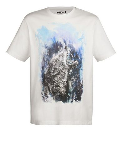 Men Plus by Happy Size T-Shirt mit Aquarell-Print