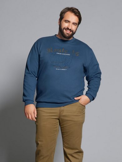 Men Plus by Happy Size Spezial-Bauchschnitt Sweatshirt