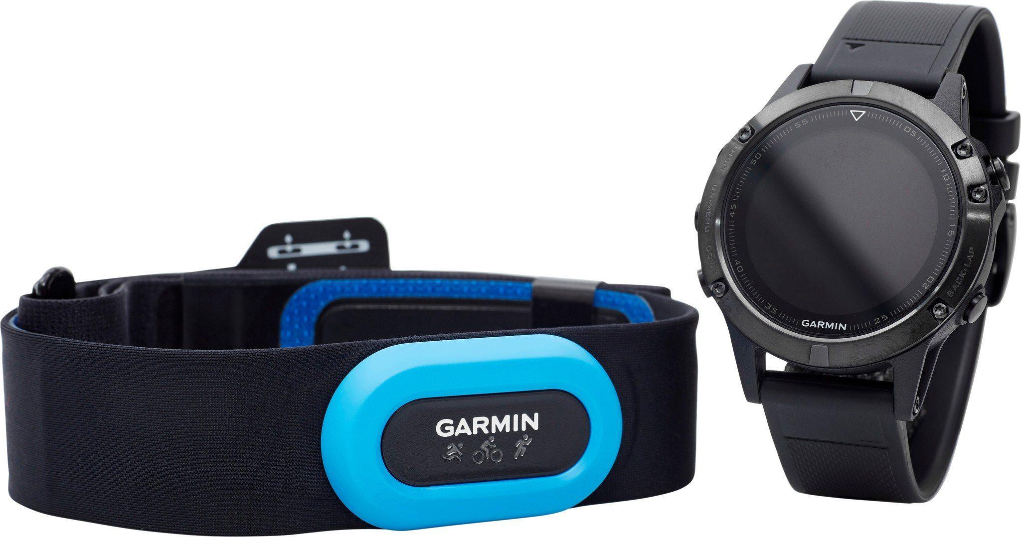 Garmin Sportuhr »fenix 5 GPS Multisportuhr Performer Bundle /«