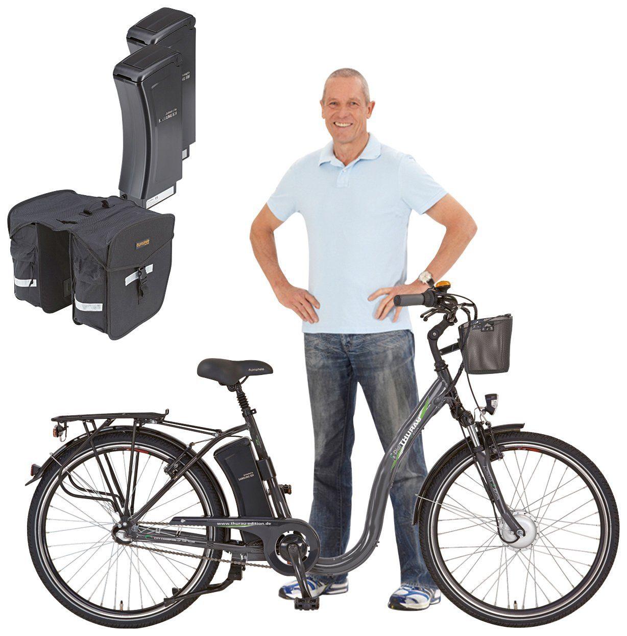 DIDI THURAU E-Bike City Damen »Alu City Comfort Tiefeinsteiger«, 26 Zoll, 3 Gang, Frontmotor, 250 Wh
