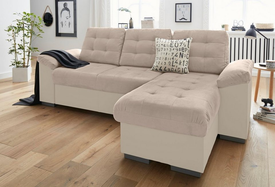 cotta polsterecke xl oder xxl wahlweise mit bettfunktion und bettkasten online kaufen otto. Black Bedroom Furniture Sets. Home Design Ideas