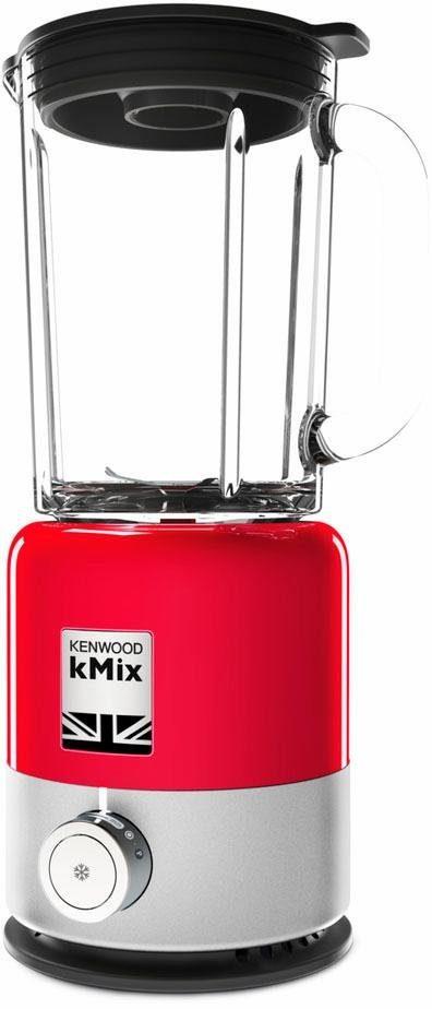 KENWOOD Standmixer BLX 750RD, 800 W, 1,6l ThermoResist Glas-Mixaufsatz, Ideal zum Mixen, Crushen & Zerkleinern