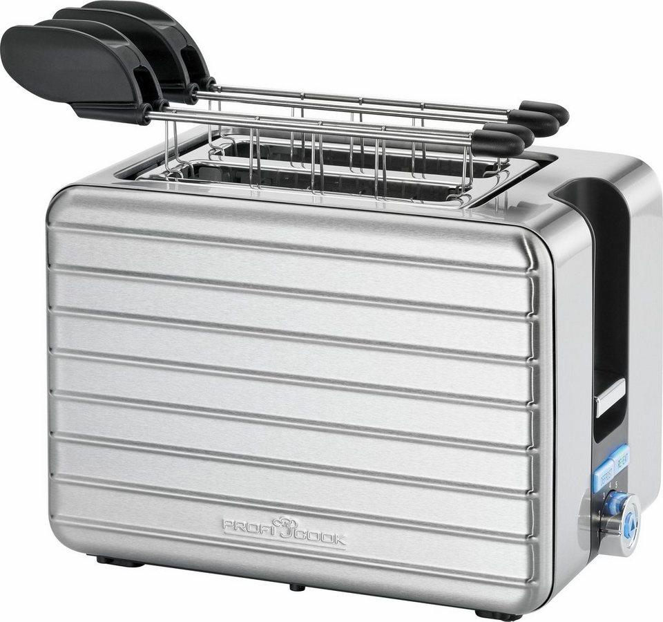 proficook toaster pc taz 1110 f r 2 scheiben 1050 w. Black Bedroom Furniture Sets. Home Design Ideas