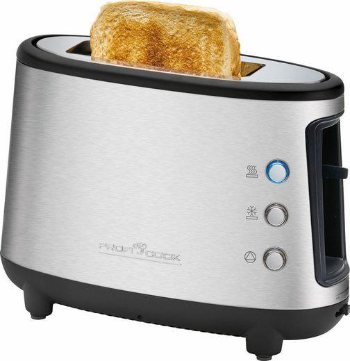 ProfiCook Toaster PC-TA 1122, 1 kurzer Schlitz, für 1 Scheibe, 550 W