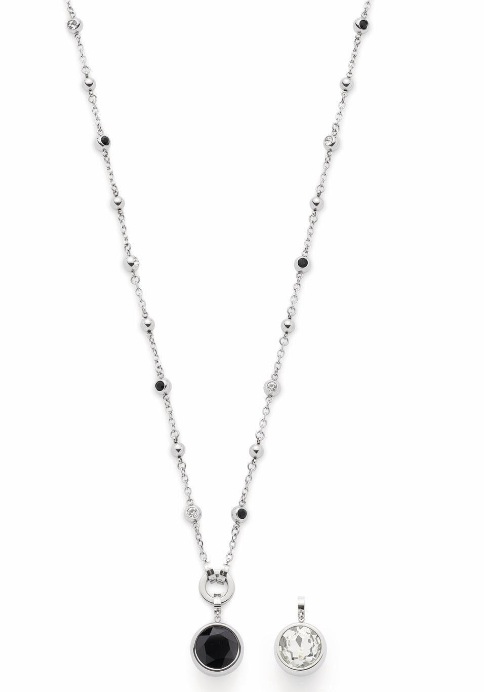 LEONARDO Kette mit Einhänger »Napoli X-Mas Special, 016441« (Set, 3 tlg) mit Glassteinen