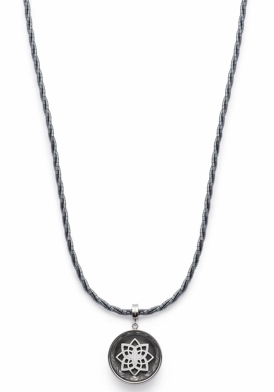 LEONARDO Kette mit Einhänger »Attivo, 016435« mit Hämatit und Kristallsteinen
