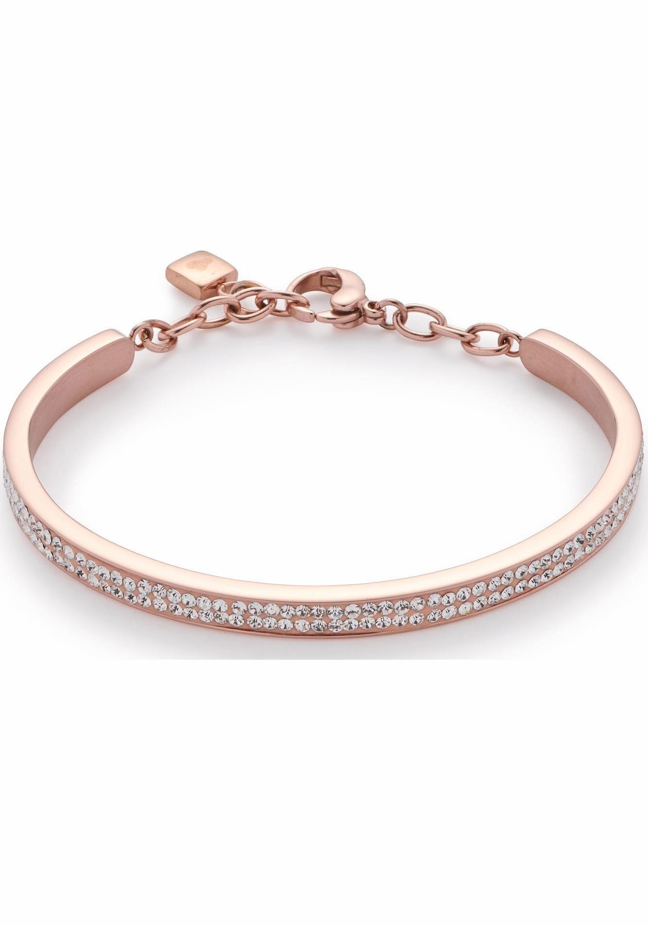 LEONARDO Armreif »Brillante roségold, 016347« mit Kristallsteinen