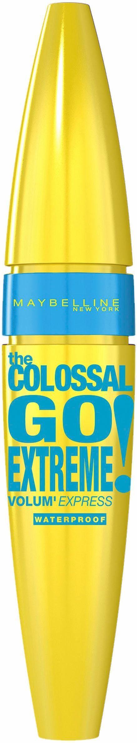 MAYBELLINE NEW YORK Mascara »Mascara VEX Colossal Go Extreme Waterproof«, Doppel-Pump-Wimpernbürste