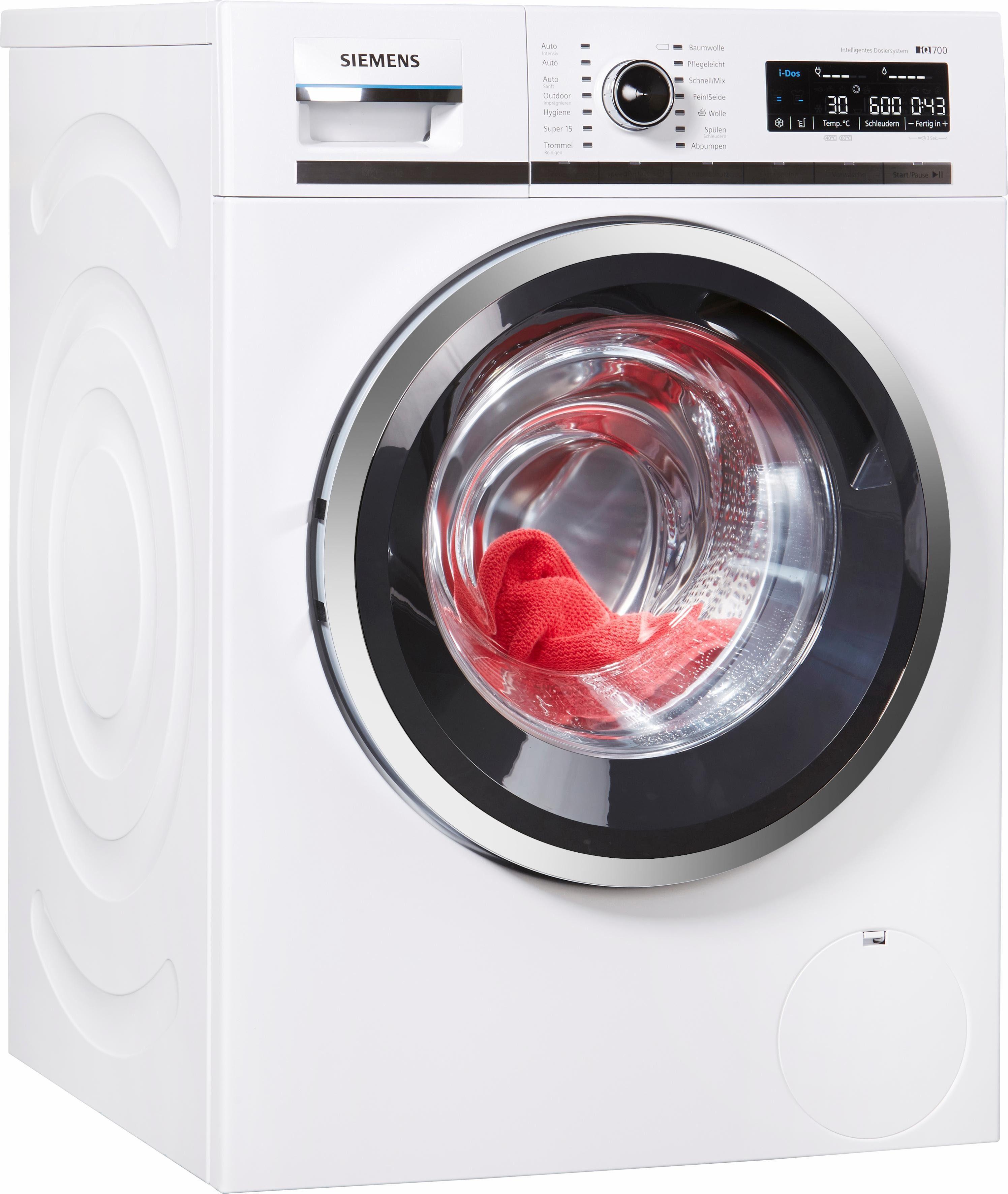 SIEMENS Waschmaschine WM16W6A1, 9 kg, 1600 U/Min