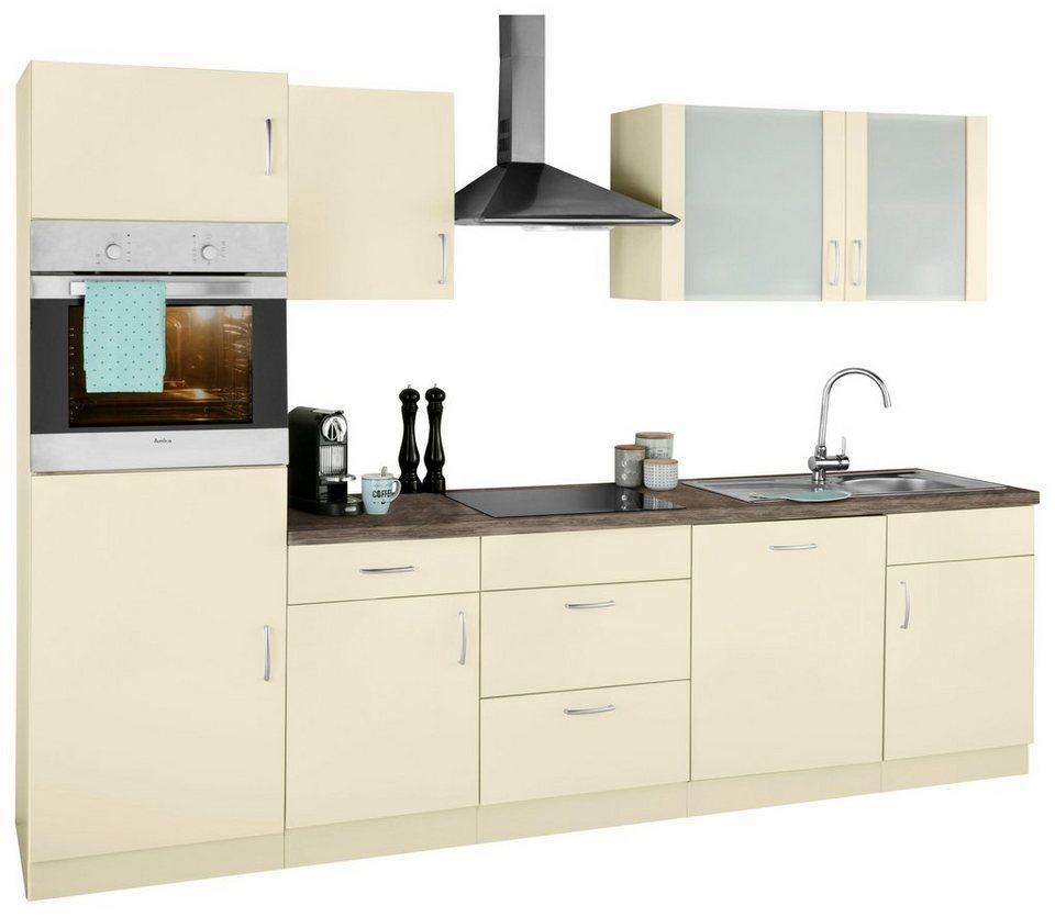 k chenzeile br ssel mit e ger ten breite 280 cm bestehend aus 15 teilen online kaufen otto. Black Bedroom Furniture Sets. Home Design Ideas