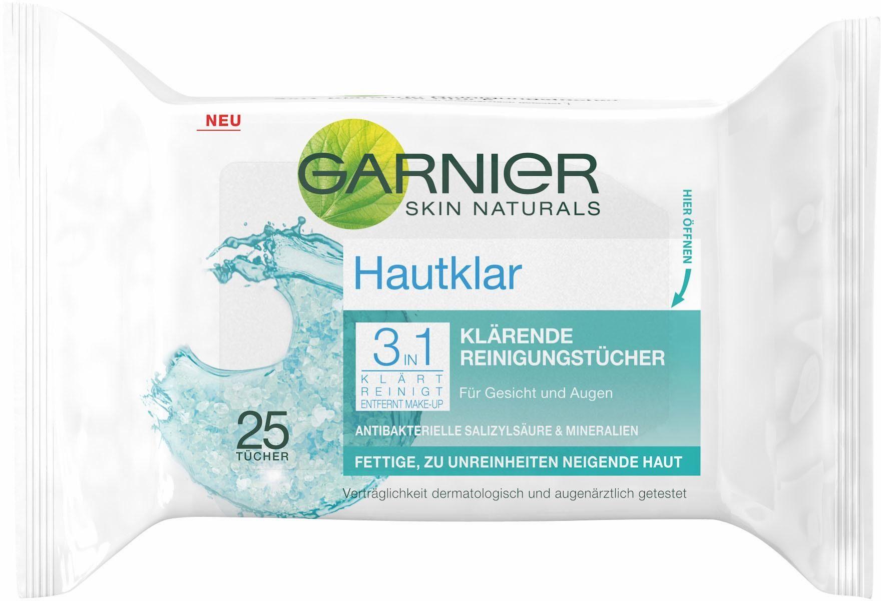 Garnier, »Hautklar 3in1 Reinigungstücher«, Gesichtsreinigung