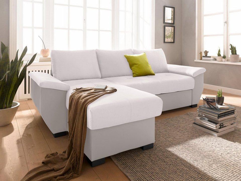 cotta polsterecke xl wahlweise mit bettfunktion und. Black Bedroom Furniture Sets. Home Design Ideas