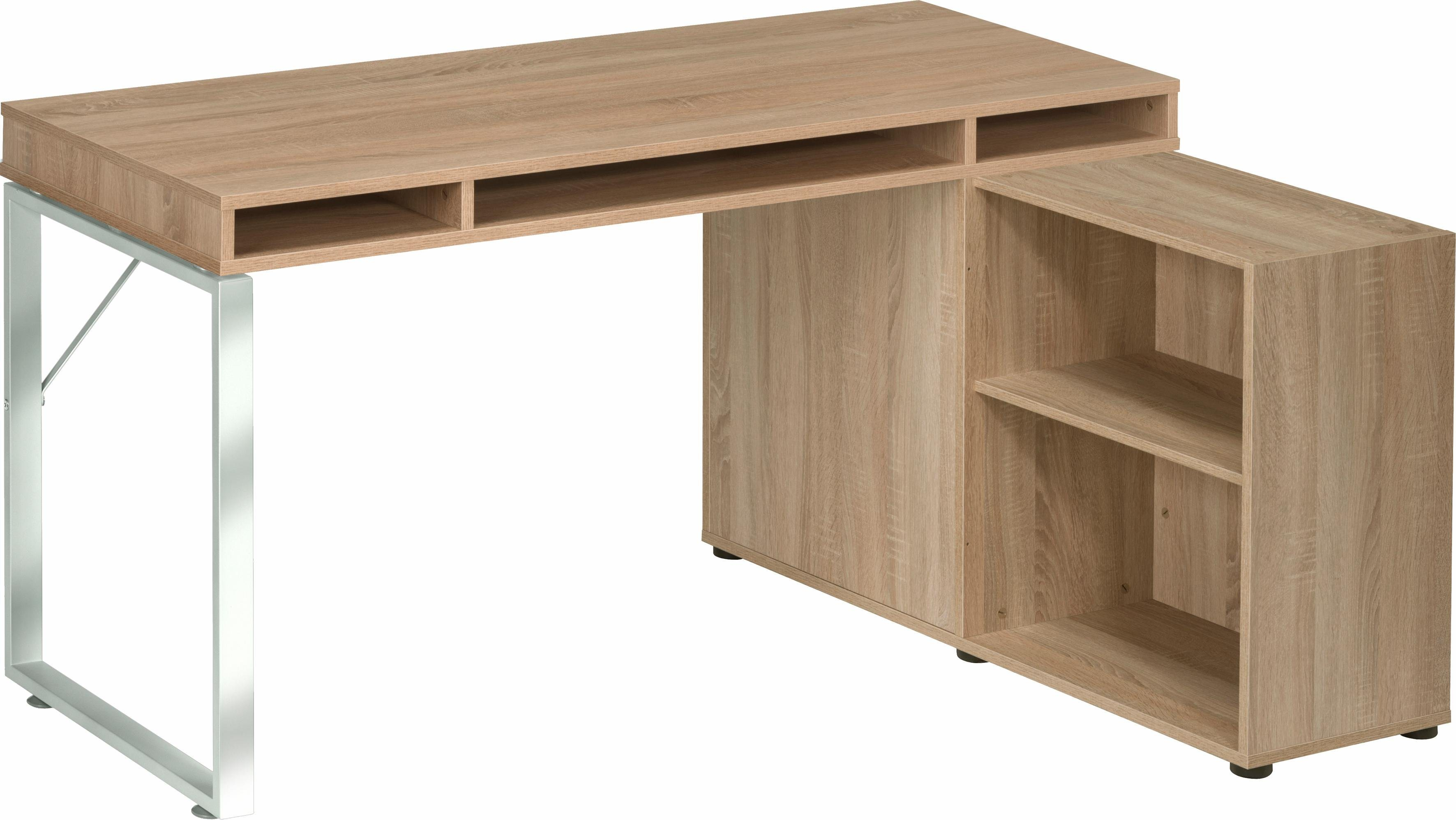 Maja Möbel Schreibtisch »1579 MAGIC« | Büro > Bürotische > Schreibtische | Chrom - Glanz | Metall - Sonoma - Abs - Melamin | Maja Möbel