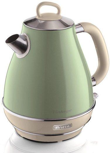 Ariete Wasserkocher Vintage 2869 grün, 1,7 l, 2200 W