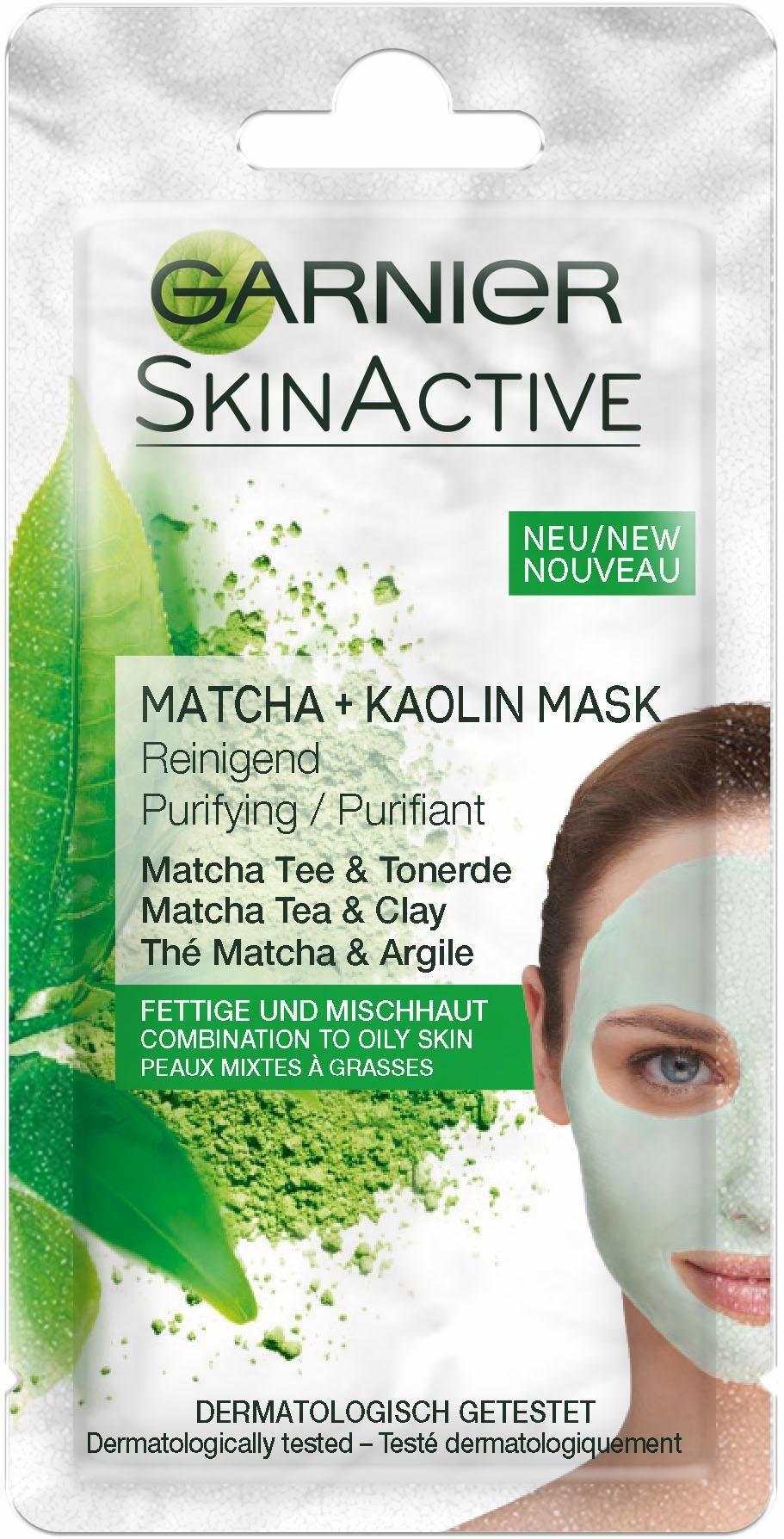 Garnier, »Skin Active Sachet Hauterstrahler Matcha Mask«, Gesichtsmaske