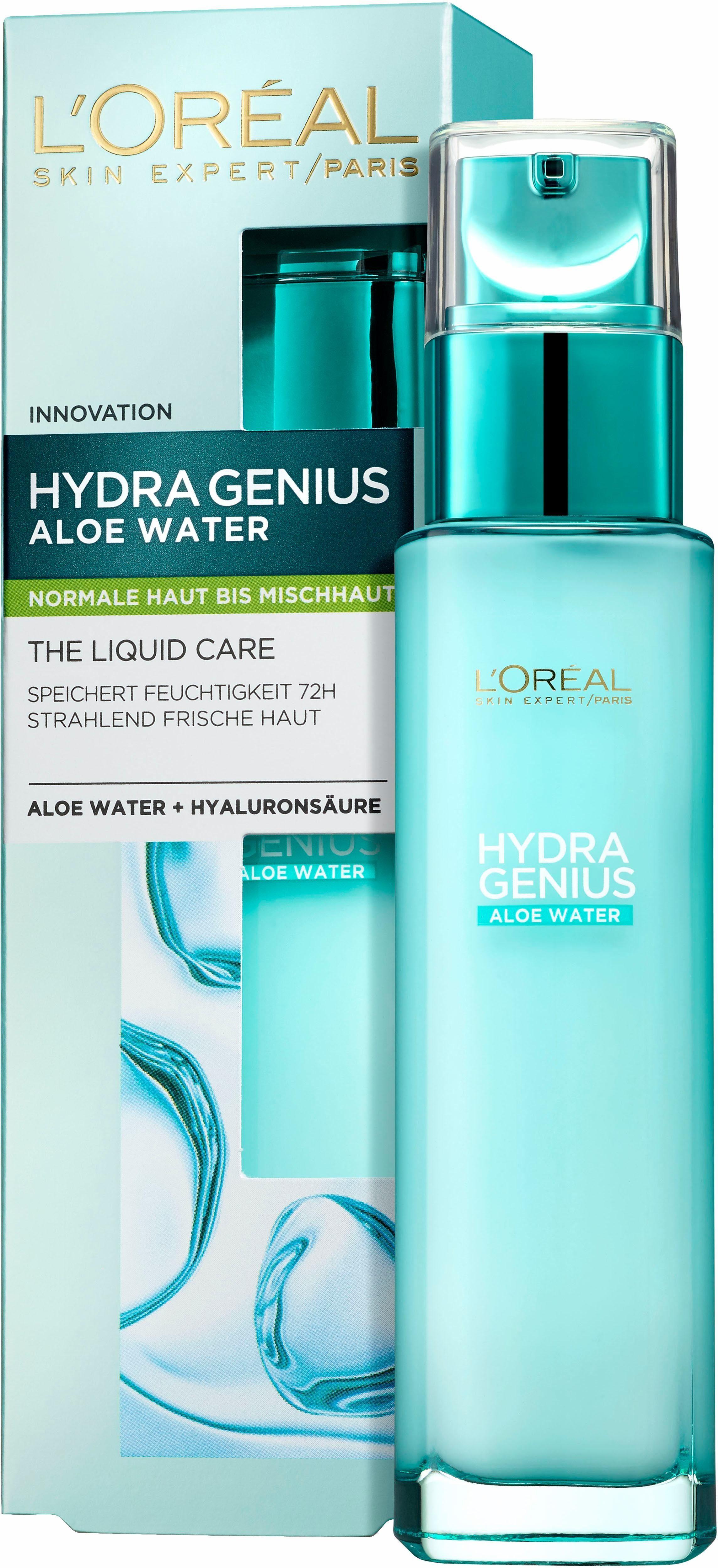 L'Oréal Paris, »Hydra Genius Aloe Aqua Feuchtigkeitsfluid«, Gesichtspflege für normale bis Mischhaut
