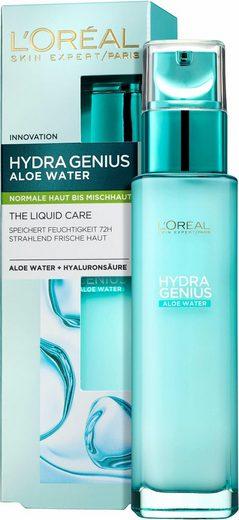 L'ORÉAL PARIS Gesichtsfluid »Hydra Genius Aloe Aqua«, für normale bis Mischhaut