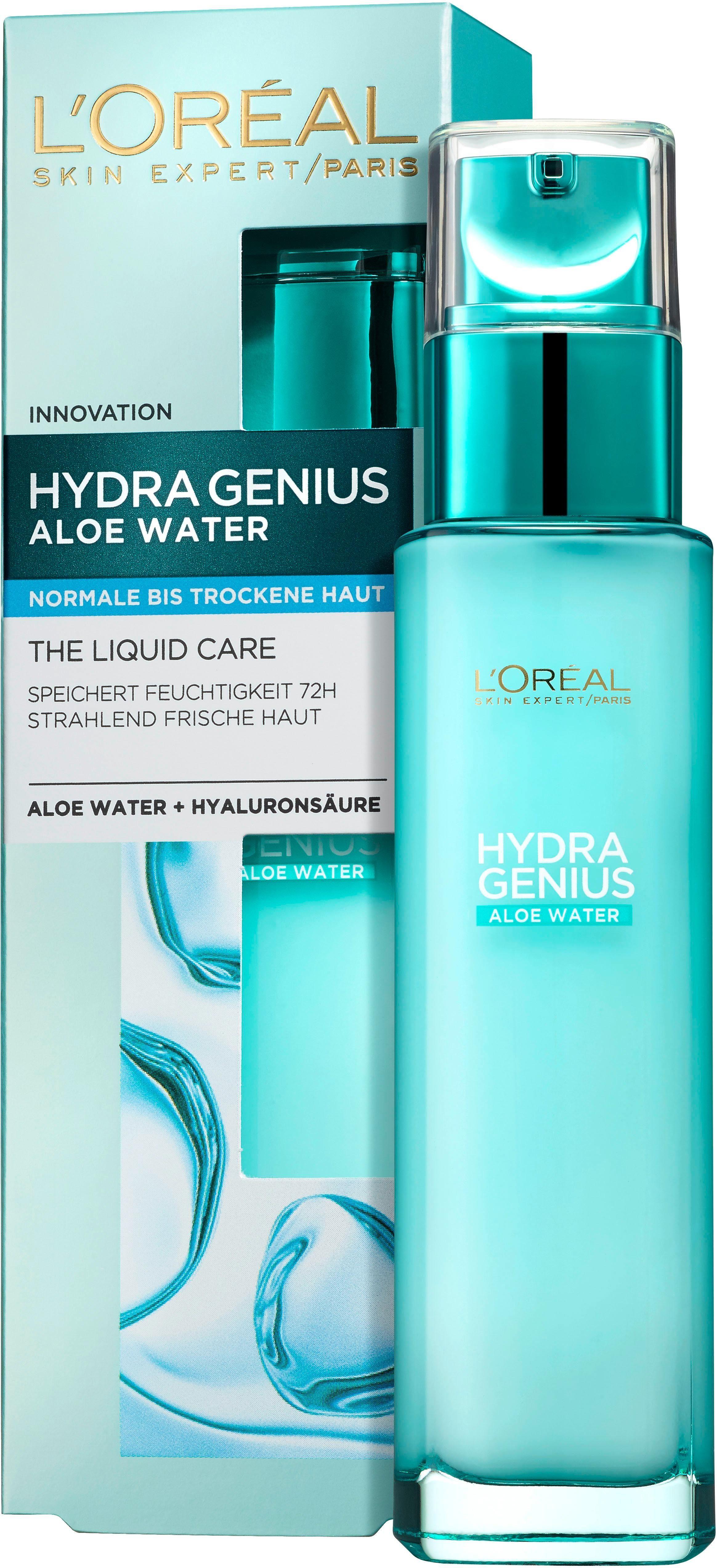 L'Oréal Paris, »Hydra Genius Aloe Aqua Feuchtigkeitsfluid«, Gesichtspflege für normale bis trockene Haut