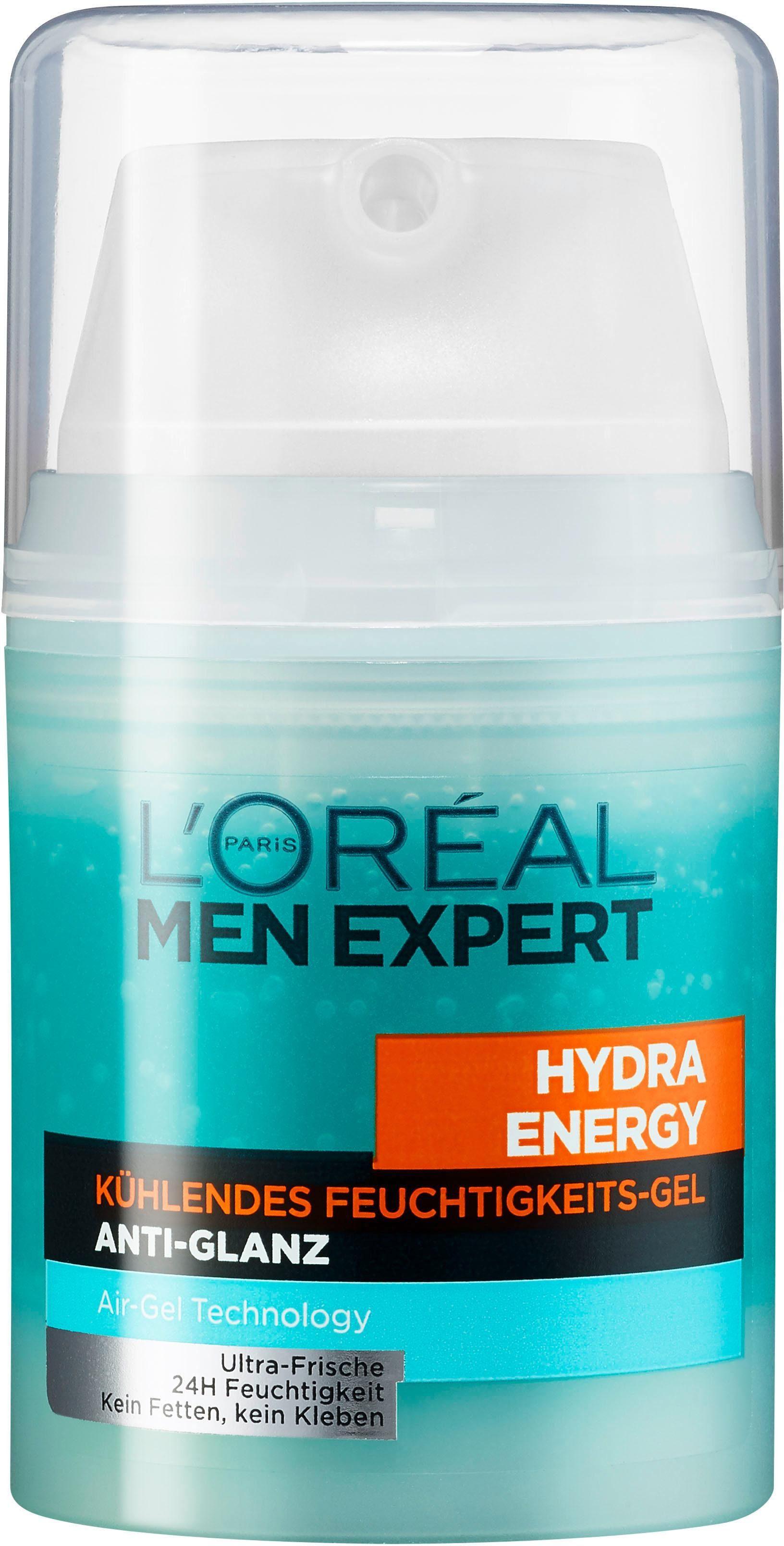 L'Oréal Paris Men Expert, »Hydra Energy Kühlendes Feuchtigkeitsgel Anti-Glanz«, Männerpflege