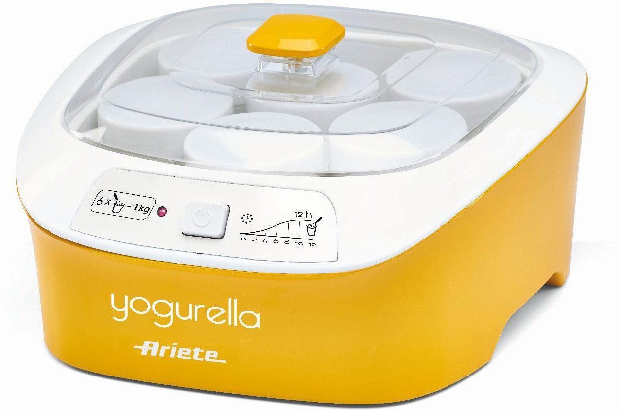 Ariete Joghurtbereiter Yogurella 0626, 6 Portionsbehälter, je 170 ml, inklusive 6 Portionsgläser