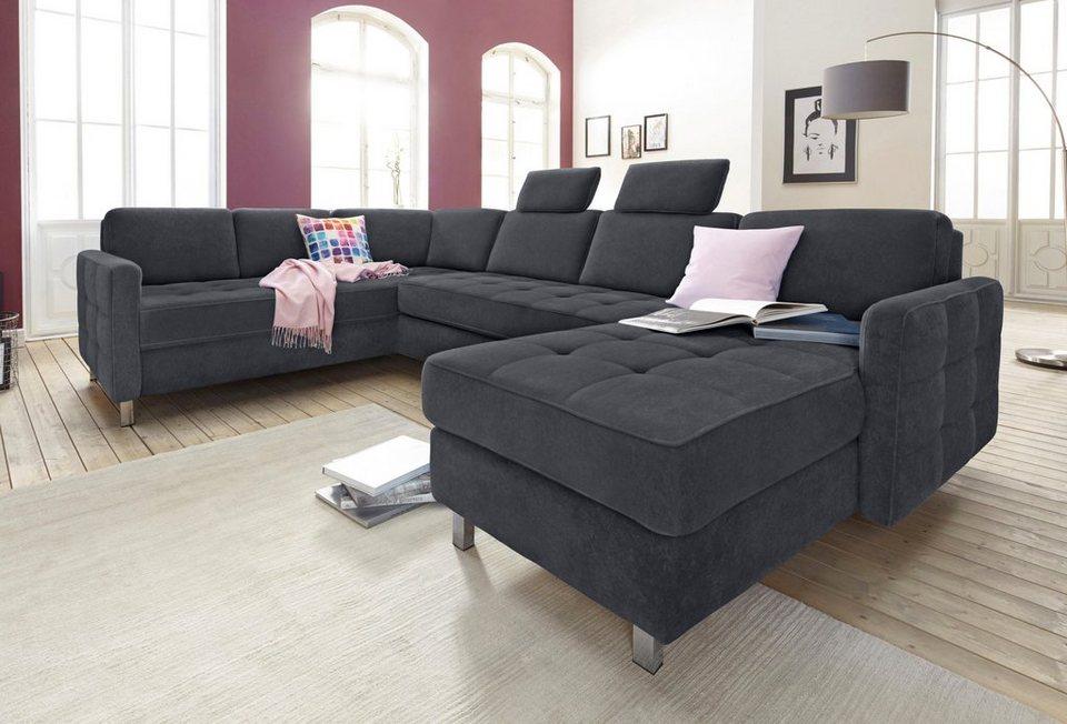 sit more wohnlandschaft wahlweise mit bettfunktion und bettkasten aus fsc zertifiziertem. Black Bedroom Furniture Sets. Home Design Ideas