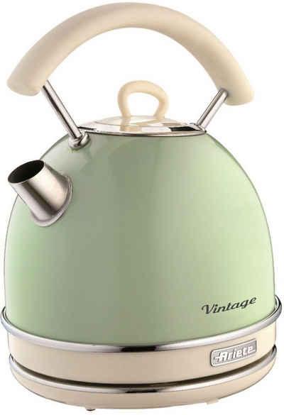 Ariete Wasserkocher Vintage 2877 grün, 1,7 l, 2200 W